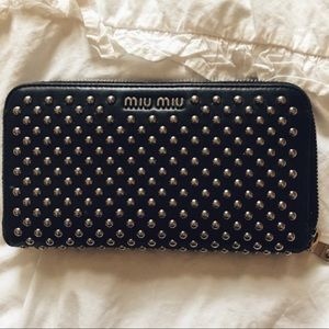 Studded Miu Miu Wallet